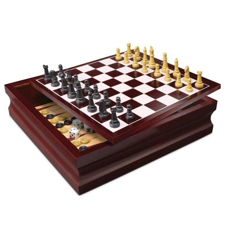 Set 10 jocuri in cutie de lemn