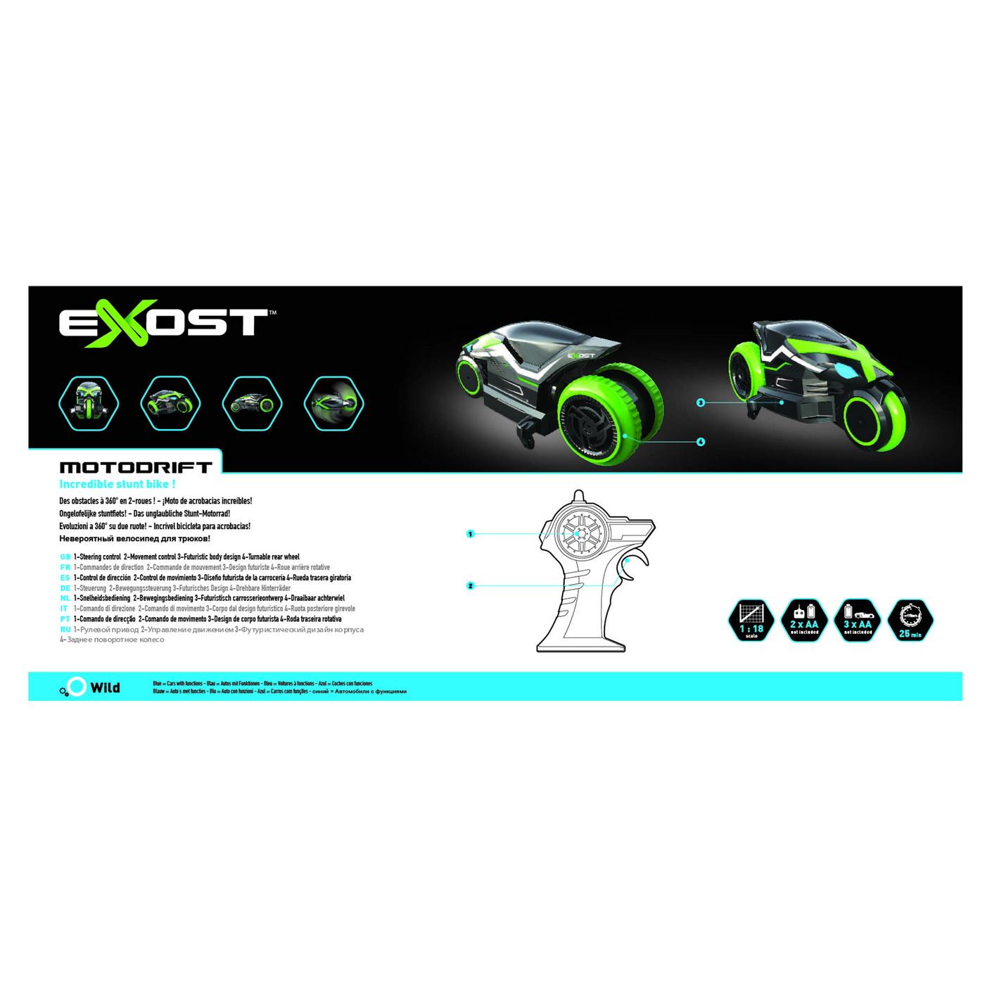 Motocicleta Drift cu radiocomanda Exost