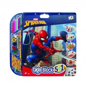 Set pentru desen 5in1 Gigablock Spiderman