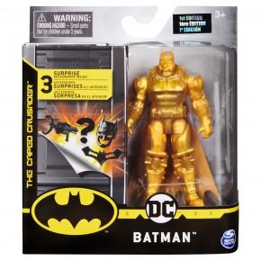 Figurina Batman auriu 10 cm cu accesorii surpriza