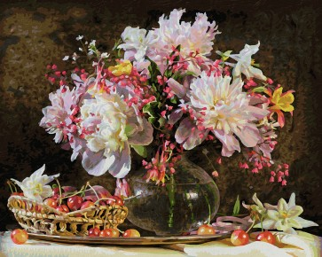 Kit  Pictura pe Numere Schipper Explozie de culoare cu flori si cirese