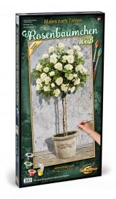 Kit pictura pe numere Schipper Trandafiri Albi