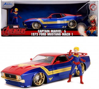Masinuta metalica Captain Marvel 1973 Ford Mustang Mach 1 scara 1 la 24