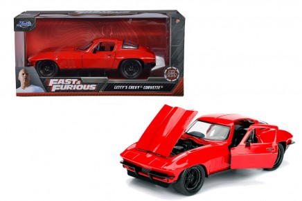 MASINUTA METALICA FAST AND FURIOUS 1966 CHEVY CORVETTE SCARA 1 LA 24