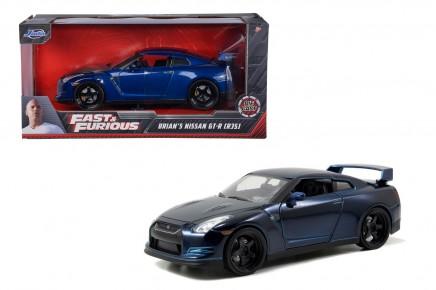 Masinuta metalica Fast and Furious 2009 Nissan GT-R scara 1 la 24