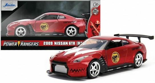 Masinuta metalica Power rRangers 2009  Nissan GT-R R35 scara 1 la 32