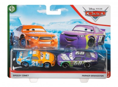 Cars 3 Set 2 masinute metalice Speedy Comet si Parker Brakeston