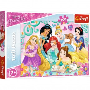 Puzzle Trefl 200 Printesele Disney intr-o seara de poveste