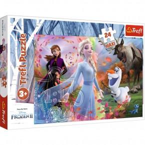 Puzzle Trefl 24 Maxi Frozen2 O zi plina de aventuri