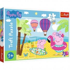 Puzzle Trefl 24 Maxi Peppa Pig in vacanta