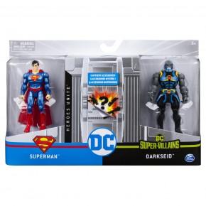 Set 2 figurine Flexibile Superman siDarkseid cu 6 accesorii