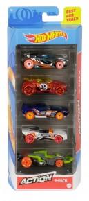 Set 5 masini Hot Wheels Action