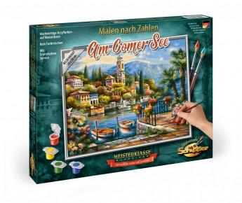 Kit pictura pe numere Schipper Lacul Como Italia