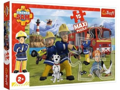 Puzzle Trefl 15 maxi Pompierul Sam in actiune