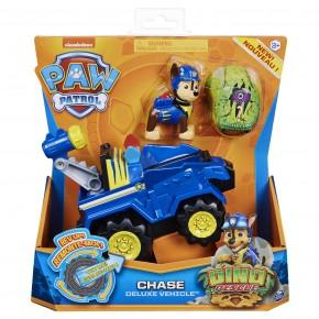Patrula Catelusilor Set Vehicul cu Catelus Chase si Figurina Dino surpriza