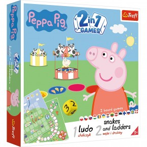 Joc Peppa Pig 2in1 Ludo si Serpisori Scari