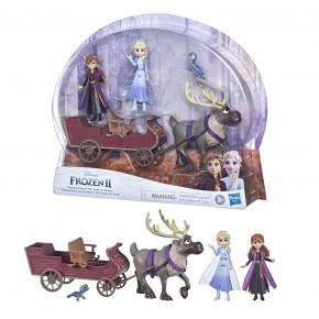 Disney Frozen2 Set papusi Anna si Elsa cu sanie