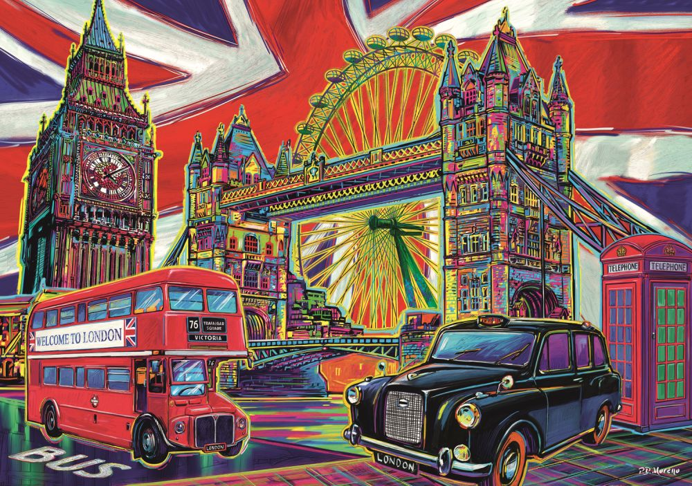Puzzle Londra in culori trefl 1000