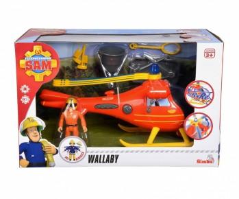 Elicopter Pompierul Sam Wallaby cu figurina si accesorii