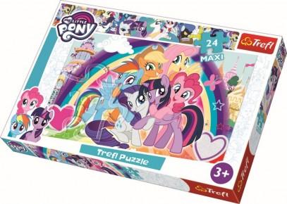 Puzzle ponei fericiti trefl 24 maxi
