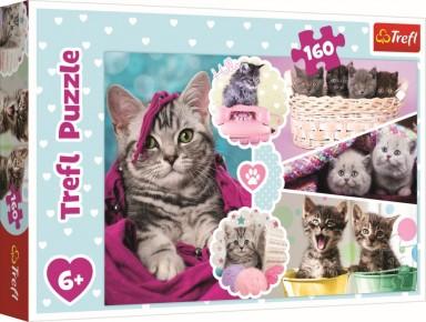 Puzzle pisici dragalase Trefl 160