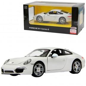 Masinuta metalica Porsche 911 alb scara 1 la 24