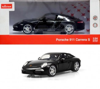 Masinuta metalica Porsche 911 negru scara 1 la 24