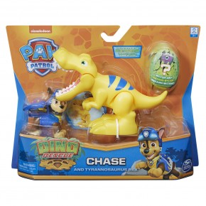 Patrula Catelusilor Set figurina Catelus Chase si Dinozaurul T-Rex