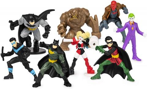 Batman Set de 8 Eroi Minifigurine 5cm