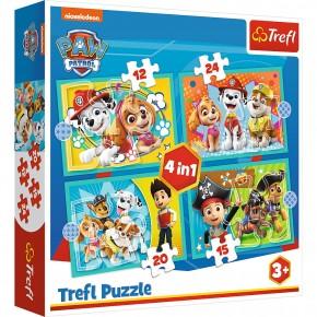 Puzzle Trefl 4in1 Patrula Catelusilor