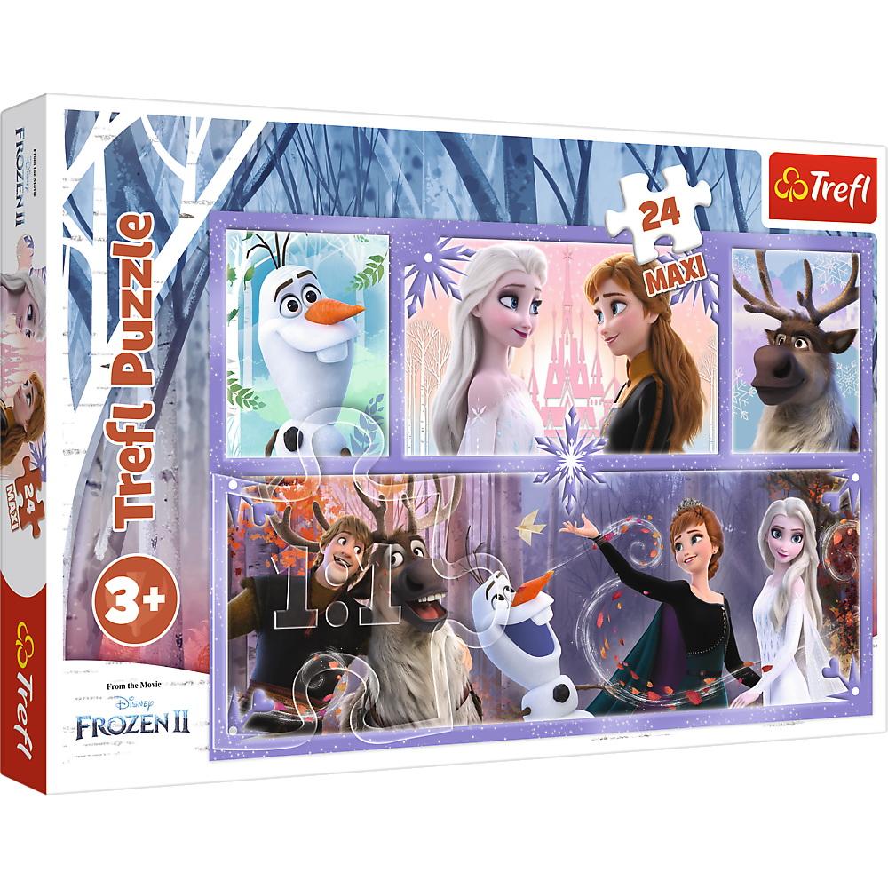 Puzzle Trefl 24 Maxi Frozen2 O lume magica